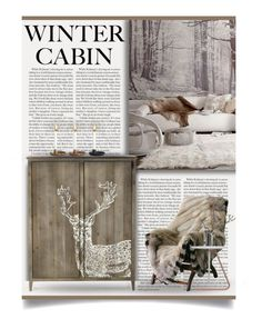 """Winter Cabin"" by debraelizabeth ❤ liked on Polyvore featuring interior, interiors, interior design, home, home decor, interior decorating and wintercabin"