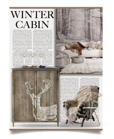 """Winter Cabin"" by debraelizabeth ❤ liked on Polyvore featuring interior, interiors, interior design, home, home decor, interior decorating and wintercabin"