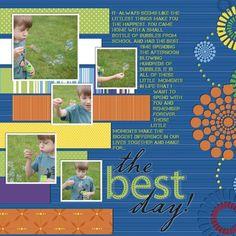 The Best Day Cheerful Digital Scrapbooking Layout - Creative Memories