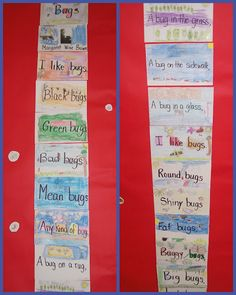 cute idea for bug unit and poetry, even more ideas on the sight for students writing their own