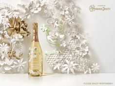print campaign of French champagne Perrier-Jouët