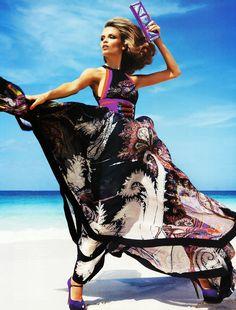 flowy dress on beach