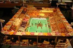 21 Incredible Football Stadiums Made Of Snacks   Pinned by http://www.thismademelaugh.com