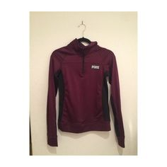 PINK maroon jacket Brand new without tags, looking to trade mostly but I can sell on MERC PINK Victoria's Secret Jackets & Coats
