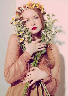❀ Flower Maiden Fantasy ❀ beautiful art fashion photography of women and flowers - daisy girl