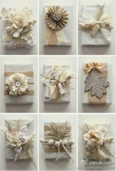 Add Sparkle to the Christmas gifts this year with these upbeat Christmas gift wrapping ideas. Use photo tags, pinecones, pompoms, etc. as gift wrap toppers. Creative Gift Wrapping, Creative Gifts, Wrapping Presents, Diy Wrapping, Elegant Gift Wrapping, Bridal Gift Wrapping Ideas, Unique Gifts, Pretty Packaging, Gift Packaging
