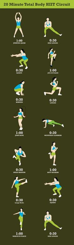 15 Best Workouts You Can Do in 20 Minutes | Postris