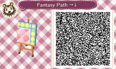 Animal Crossing QR Codes ❤ Pink Fantasy  Diamond path  Upper Right Corner TILE#2 of 9