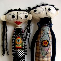 Nanette and Roger - one listing for two dolls, lovebirds and unique. $40.00, via Etsy.