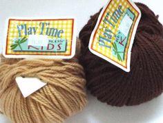 Reynolds #Kids Collection Play Time Wool Blend Yarn 50 Gram Balls 2 Balls Worsted Weight Fiber #Brown Taupe #Beige #knitting #crochet #crafts https://www.etsy.com/listing/181253553/destash-reynolds-kids-collection-play