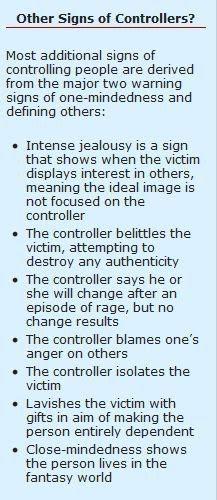 Characteristics of a narcissist.
