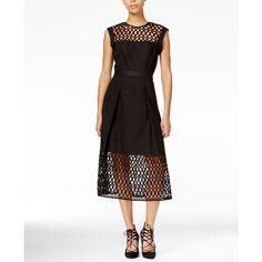 Rachel Roy Lace Trim Fit Flare Dress 85 Liked