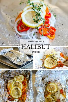 Grill or bake your halibut in foil packets.  It's easy, delicious and flavorful, not to mention a pretty presentation.