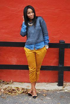 blue + mustard