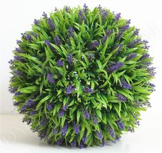 Artificial Plastic Lavender Grass Ball