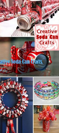 Transform empty soda cans into creative crafts!