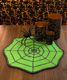 Spider Web Table Mat Free Crochet Pattern in Red Heart Yarns