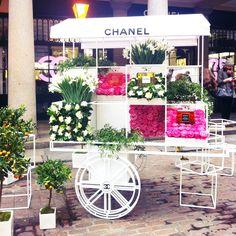Chanel flower stall, Covent Garden