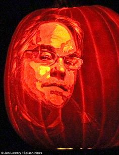 Through a new lens: Philip Seymour Hoffman, who died in February, is remembered with a pumpkin portrait