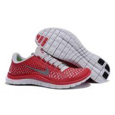 86c2e98bd95a27 Nike Free 3.0 V4 Männer Schuhe Rot Lichtgrau