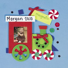 Christmas Train Photo Frame Magnet Craft Kit x 12