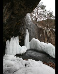 아름다운 괴산의 수옥정의 겨울