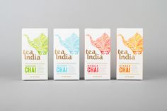 Tea India by Salad, UK. #packaging #design