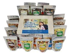 Harmony House Foods, Trail Ready Gourmet Soup and  Chili Pack, 18 Zip Pouches *** Remarkable outdoor item available now. : Camping stuff