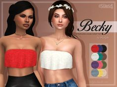 Becky Top by Trillyke at TSR via Sims 4 Updates