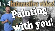 """We are now on Episode 4 of the """"Painting with You"""" Interactive Video series! In this episode, we added an Oak Tree Forest that really enhanced the painting. Adding colorful elements to a painting can really brighten up a seemingly flat painting, while also adding a lot of depth to the landscape. To vote for how you would like to see the painting continue, visit: http://paintwithkevin.com/vote.html"""
