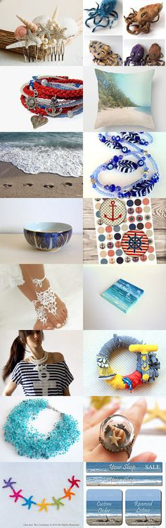 Summer 2016 sea!!! by Irina Ezhelova on Etsy--Pinned+with+TreasuryPin.com