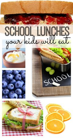 School lunch ideas that your kids will love! Great ideas to pack them a lunch that they'll actually eat.