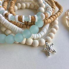 joyería pulseras de cristal de mar cultivadas pulsera playa
