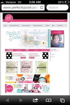 Check me out!!! Visit my Perfectly Posh site filled with pampering products for your bath and body www. Perfectlyposh.us/Ciara
