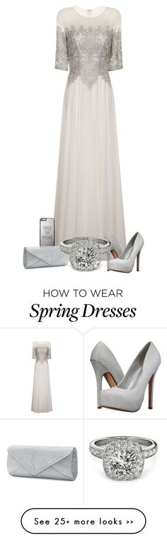 """""""Sooo Maybe I Do!"""" by hawkeye9862 on Polyvore featuring Chi Chi, Call it SPRING, Kate Spade, Mascara, Allurez and white"""
