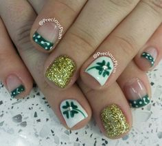 St party's day nails!