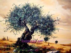 How To Oil Painting Portrait Original Paintings, Original Art, Paint Prices, Tree Illustration, Fruit Art, Olive Tree, Tree Oil, Watercolor Art, Sculptures