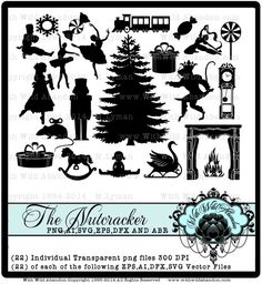 Check out Nutcracker Ballet, Christmas, Ballerina, Mouse, Nutracker Silhouettes, svg, eps,png,dxf,ai formats on withwildabandon