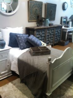 Bedroom setting with French Provincial and Antique Chinese furniture.