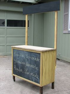 Tutorial for DIY Lemonade Stand