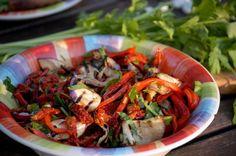 salat z grilovanej papriky a baklazanu Japchae, Ethnic Recipes, Food, Pickles, Essen, Meals, Yemek, Eten