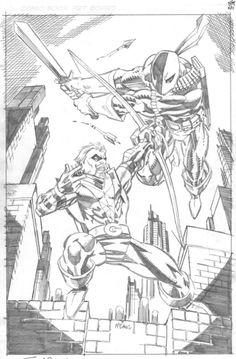 Green Arrow vs Deathstroke • Scott McDaniels
