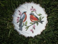 Porcelain Bird Plate... 8.99, via Etsy.