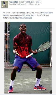 All about 15-yr-old Frances Tiafoe, the youngest Orange Bowl Tennis champion in the ITF Junior Tennis event's 67-year history. http://tennisfan.ning.com