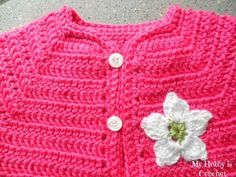 My Hobby Is Crochet: Toddler Short Sleeved Cardigan | Twin V- Stitch - Free Crochet Pattern