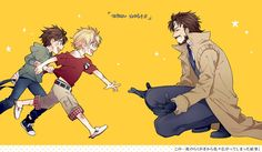 Snake and Liquid as kids, and Big Boss! I wonder a lot about Snake's childhood. <3 x3
