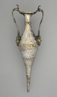 """""""Amphora-rhyton,"""" 4th-5th century, Roman. Gilded silver. 