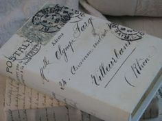 French style book boxes