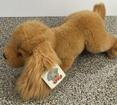 """Gund Vintage 1985 Nugget 1382 Dog Plush Brown Stuffed Animal 16"""" Long Tags  #Gund"""