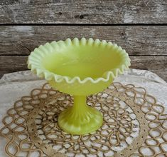 Hobnail Vintage Milk Glass Ruffled Compote Dish, Vintage Milk Glass, Vintage Footed Pedestal Bowl, Hobnail Ruffled Edge Pedestal Candy Dish Vintage Vases, Vintage Items, Italian Coffee Maker, Home Decor Quotes, Christmas Gifts For Her, Easter Wreaths, French Country Decorating, Candy Dishes, Simple House